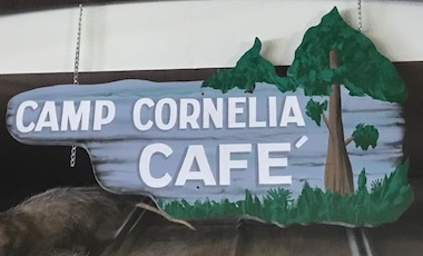 Camp Cornelia Cafe Sign - Okefenokee Adventures - Okefenokee Swamp