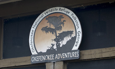 Okefenokee Adventures Sign