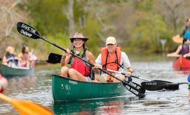 People Canoeing - Okefenokee Swamp