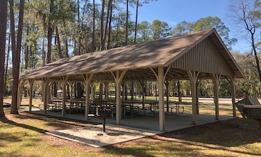 Picnic Shelter - Stephen C. Foster State Park - Okefenokee Swamp